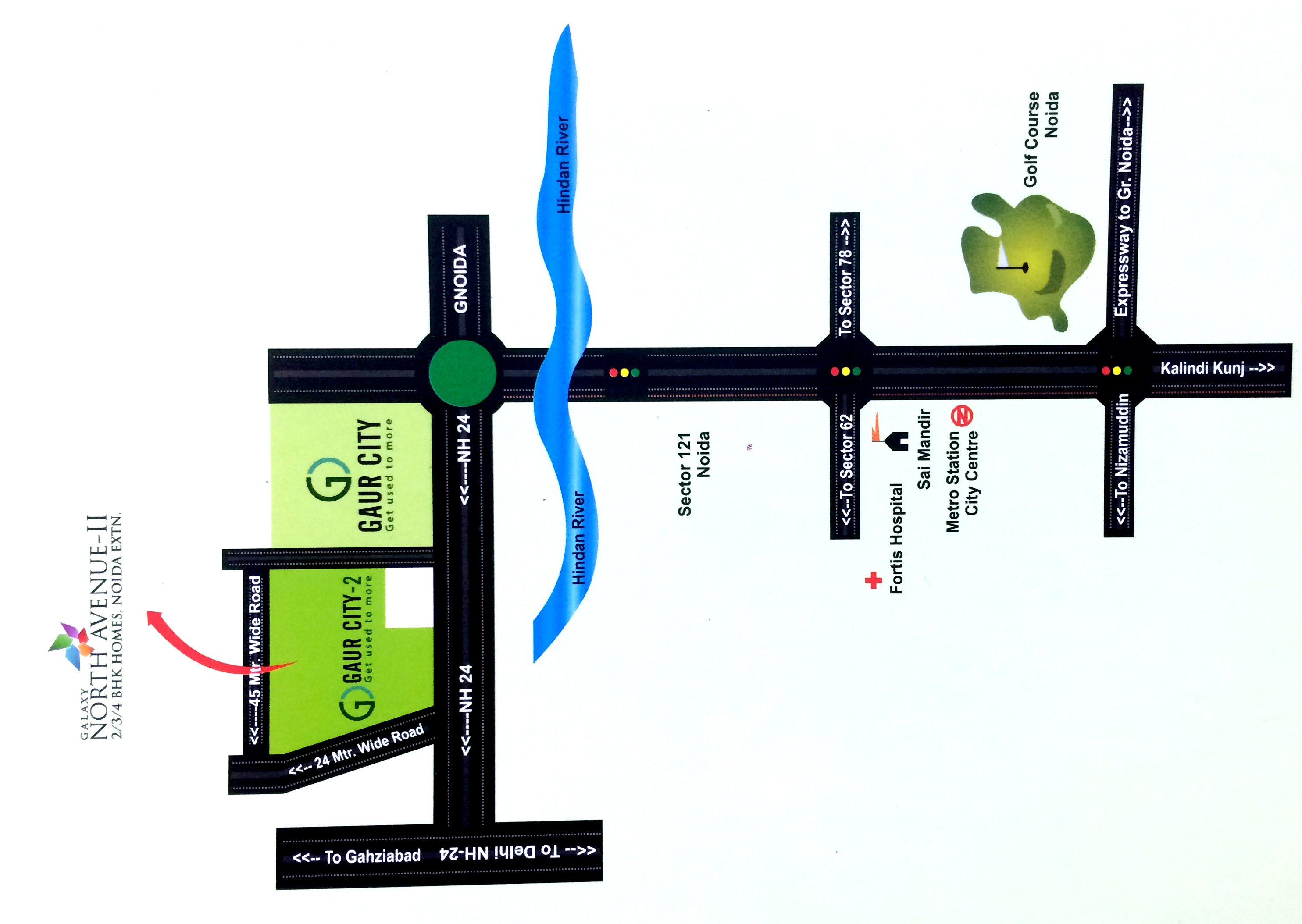 Galaxy North Avenue Location Map